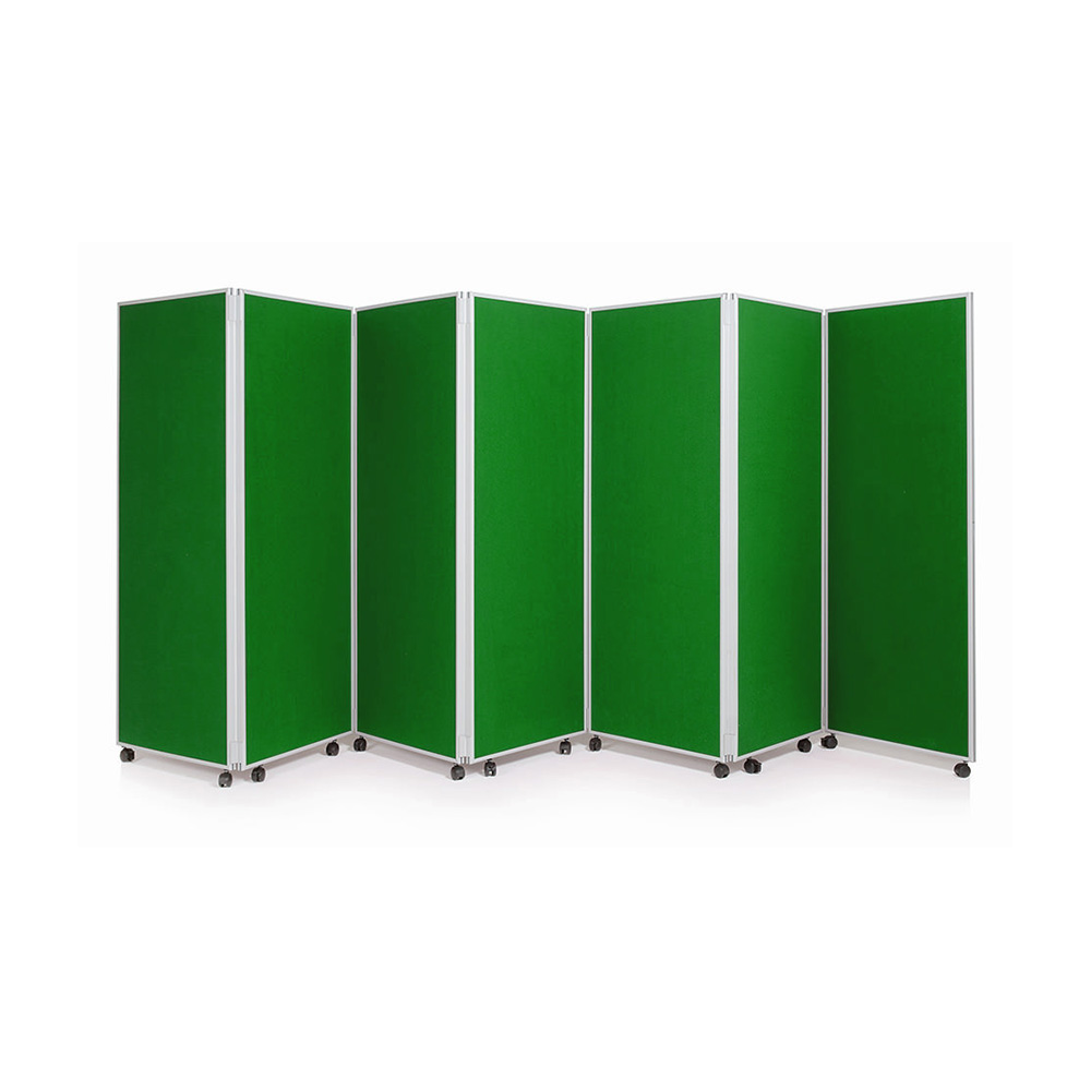 7 Panel Mobile Concertina Screen in Green
