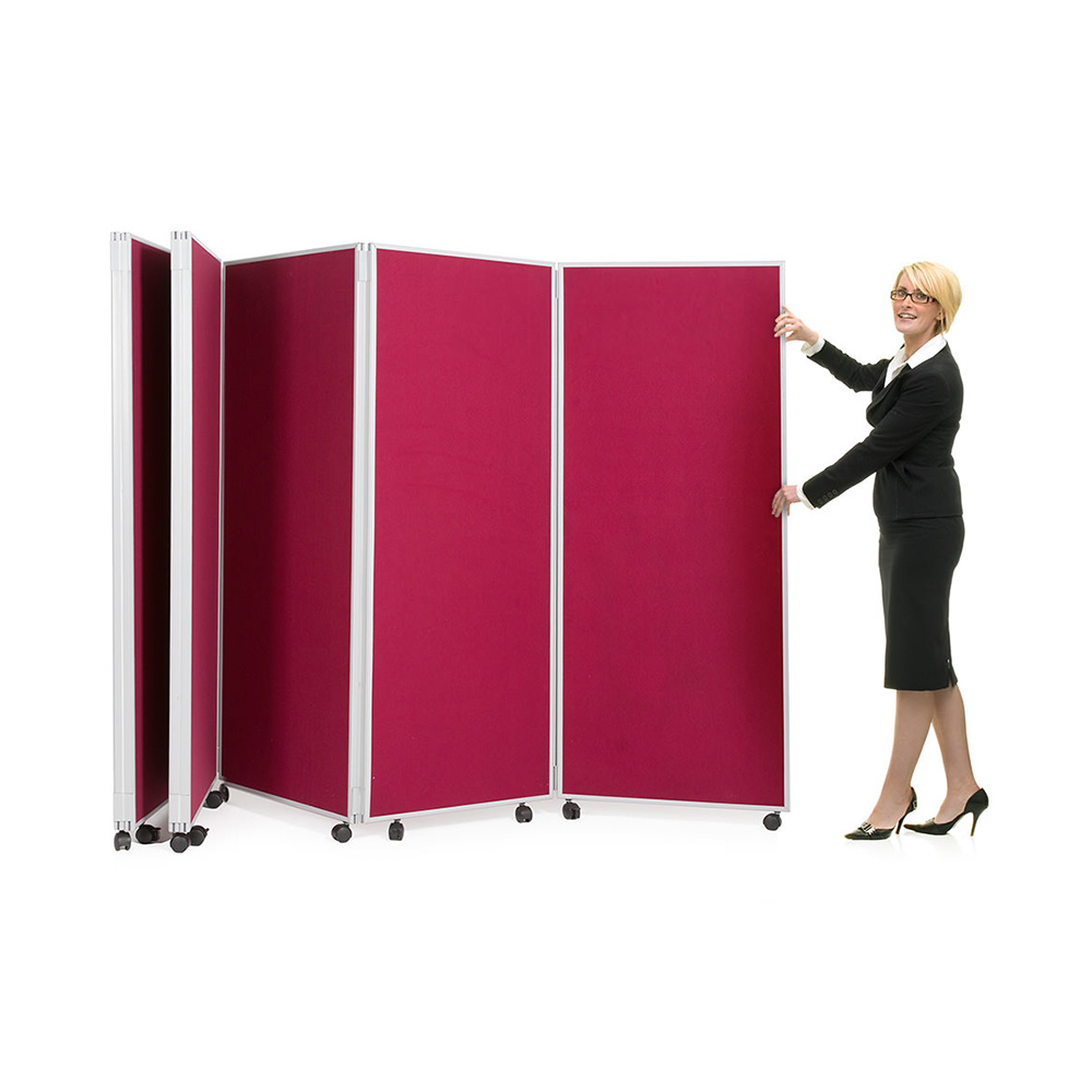 Concertina Screens Easy To Unfold and Move into Place Quickly