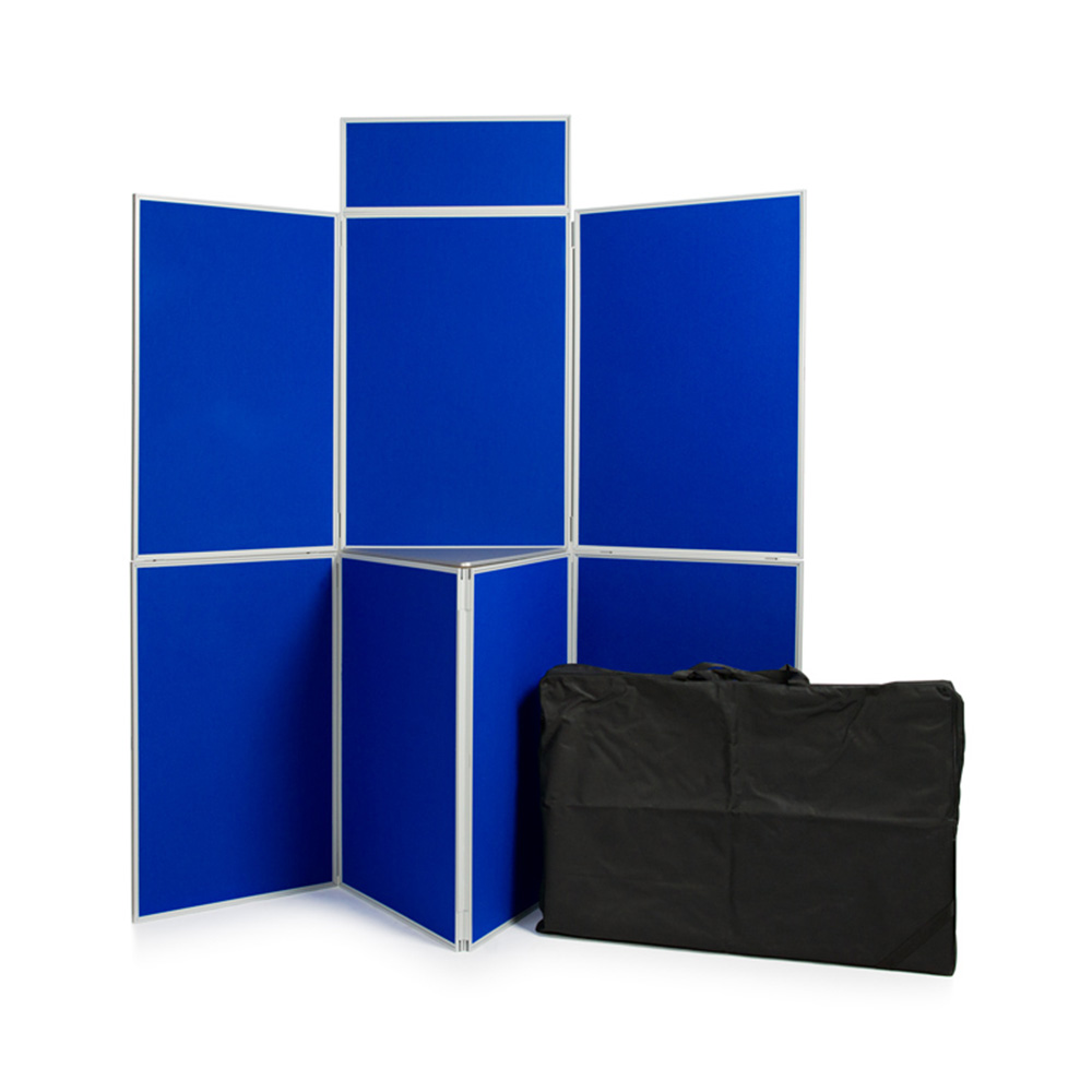 7 Panel Presentation Kit in Blue with Shelving and Carry Bag