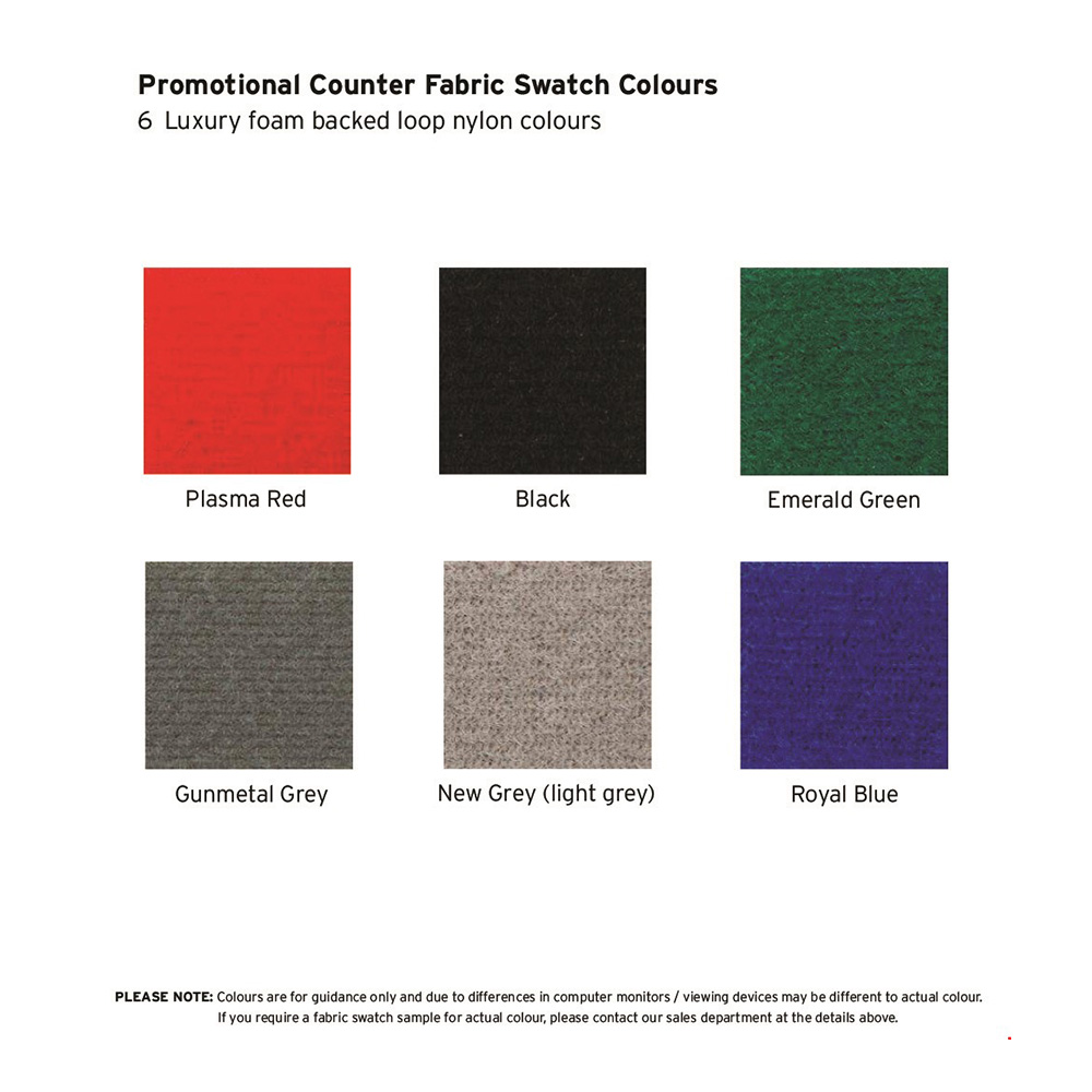 Display Board Fabric Colour Swatch Choice