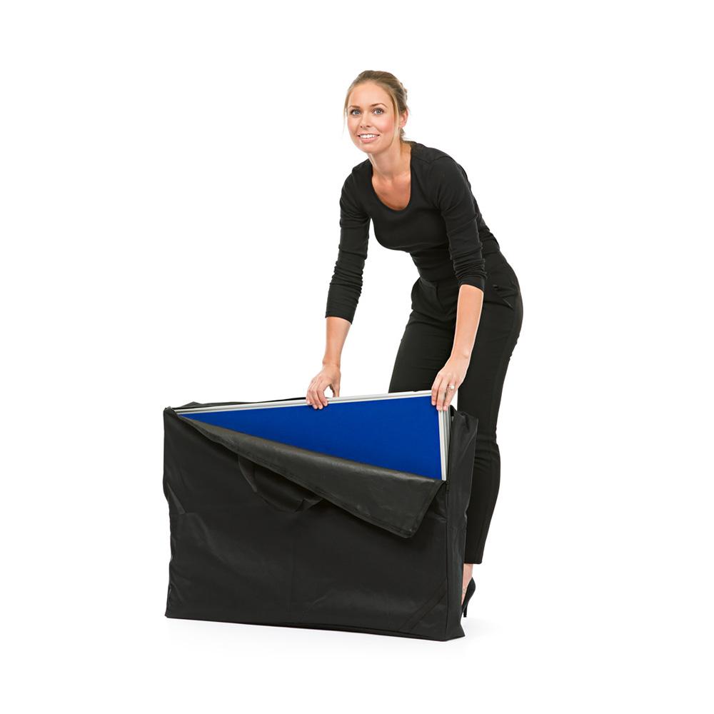 Disassembled Presentation Panels Fit Securely into Supplied Transport Bag