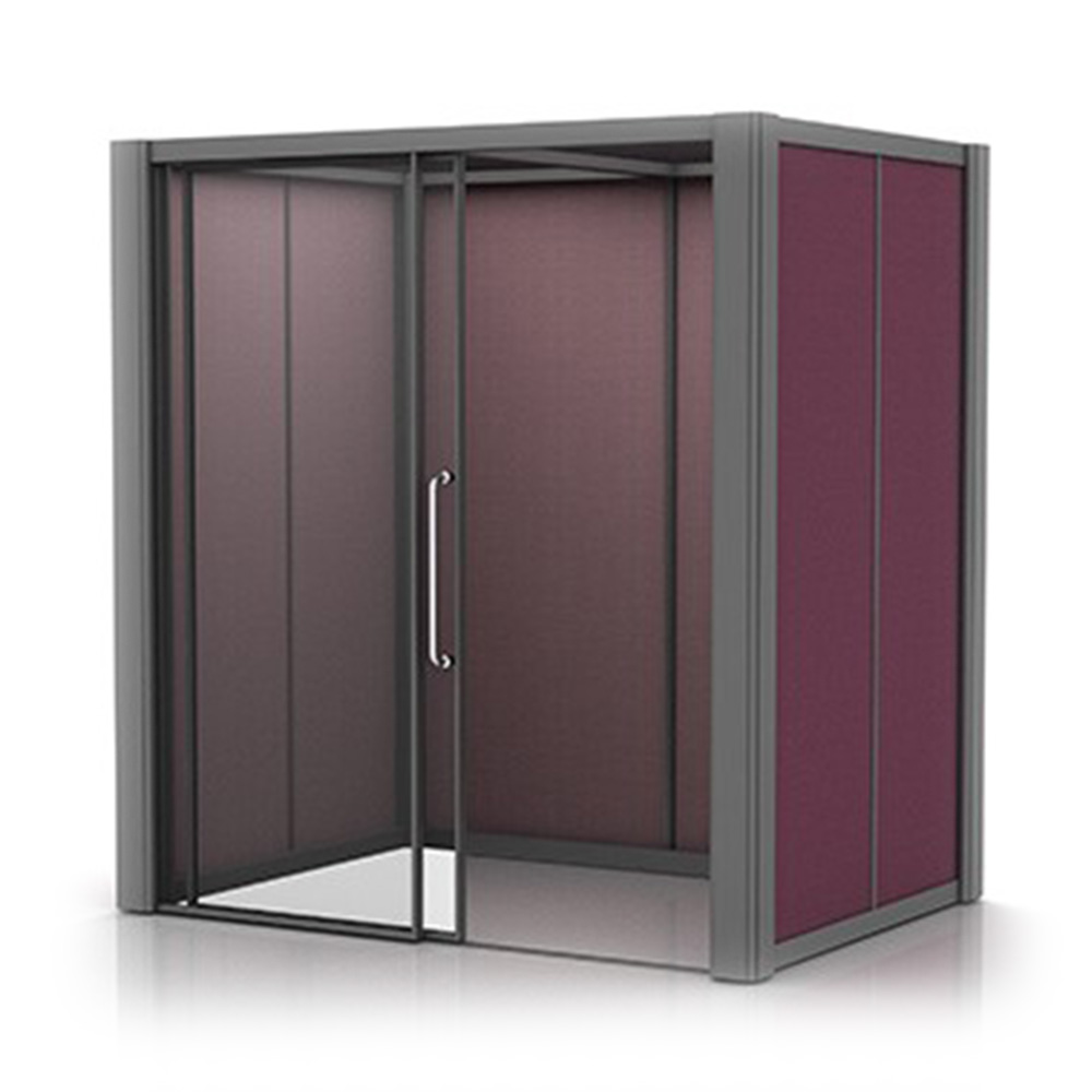Freestanding 2x1.5m Acoustic Meeting Pod with Fabric Walls