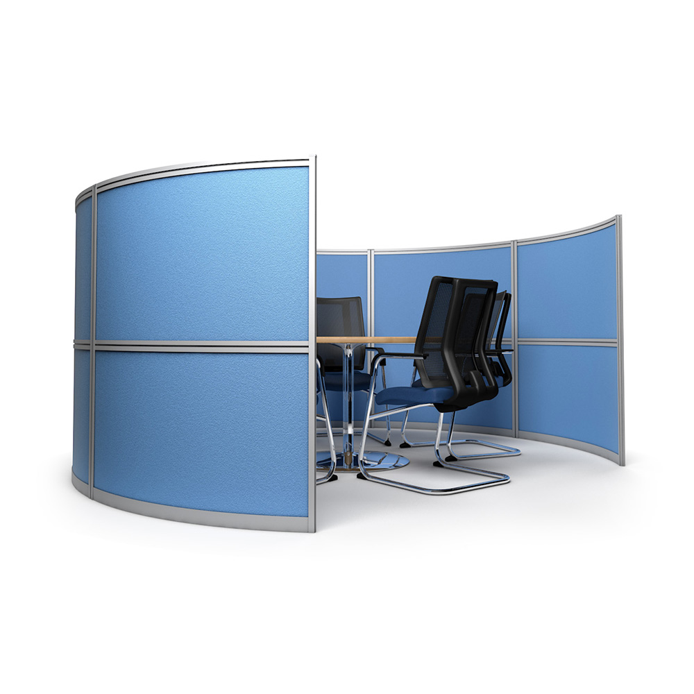 Free Standing Office Meeting Pods With Internal Space For A Meeting Table And Five Chairs
