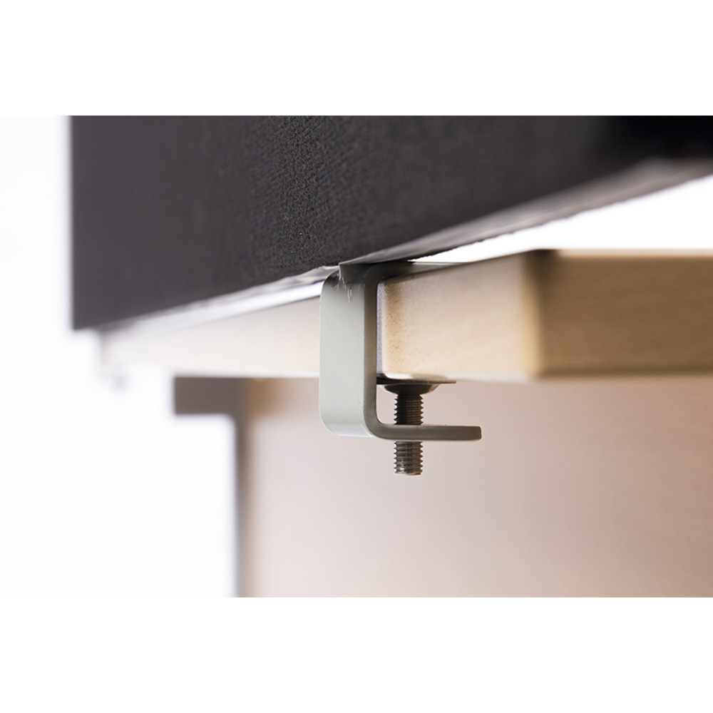 Office Desk Screen Mounting Point Behind Desk