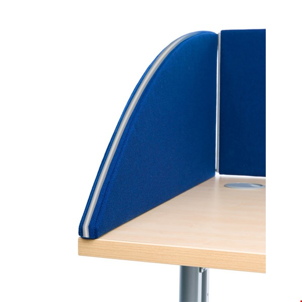 Side View of the Standard Acoustic Desk Partition