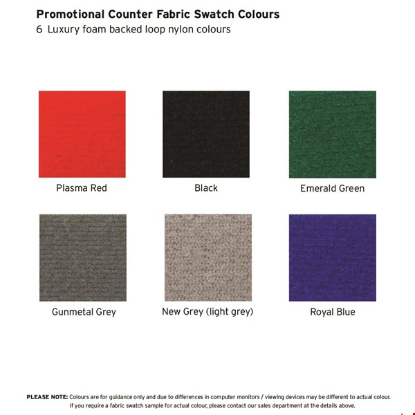 Fabric Display Board Colour Options