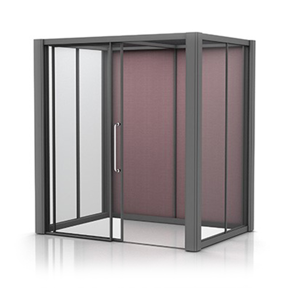 2x1.5m Meeting Pod with Glass Walls and Sliding Door