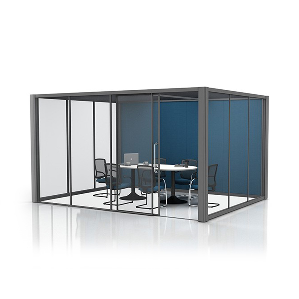 4x3m Glass Office Meeting Pod with Office Furniture