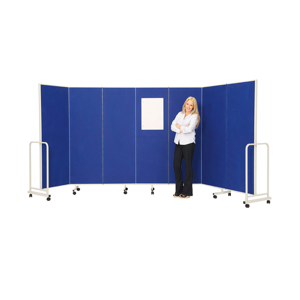 Insta Wall Concertina Partition Screen on Wheels in Blue
