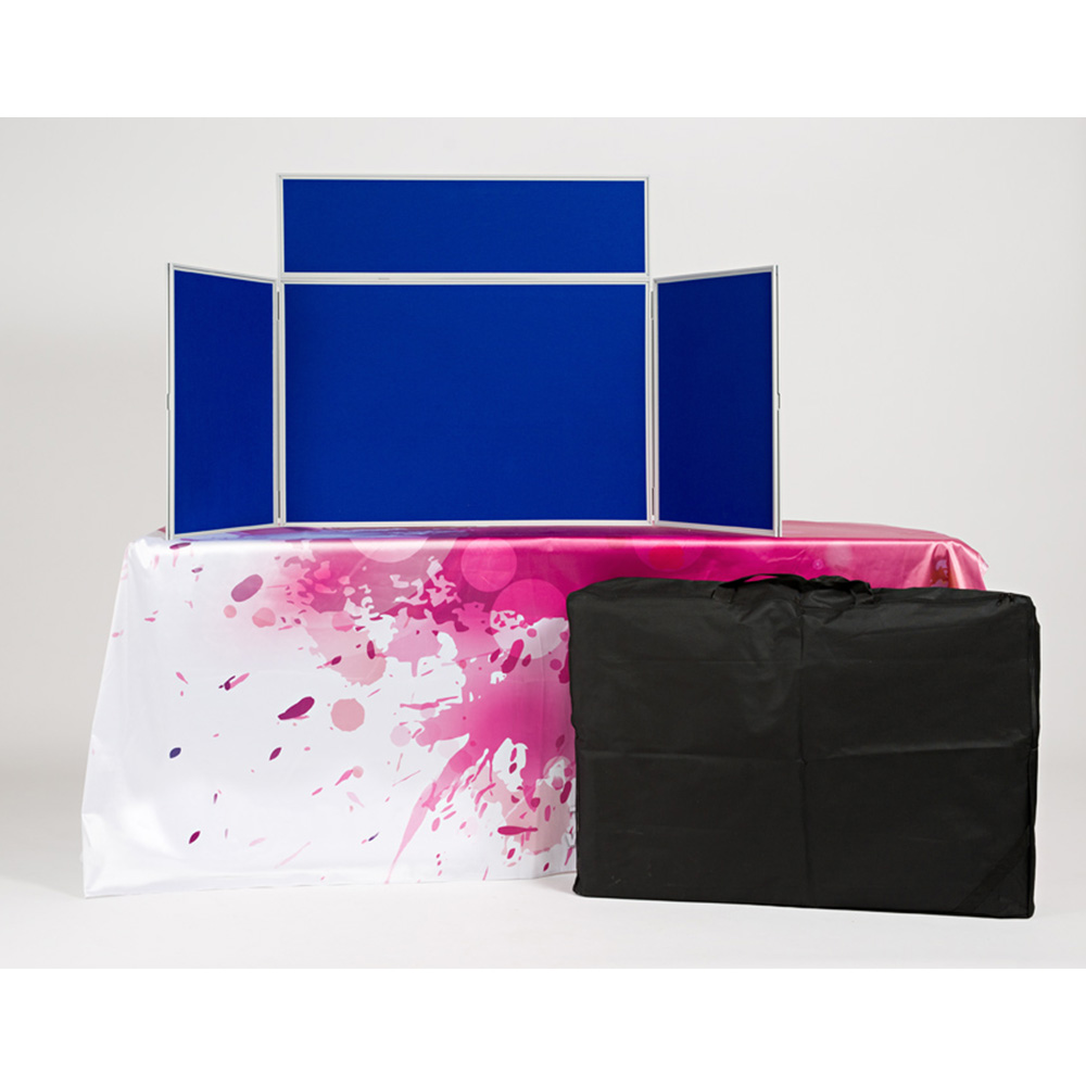 Custom Print Table Cloth with 3 panel Landscape Presentation Boards with Travel Bag Included