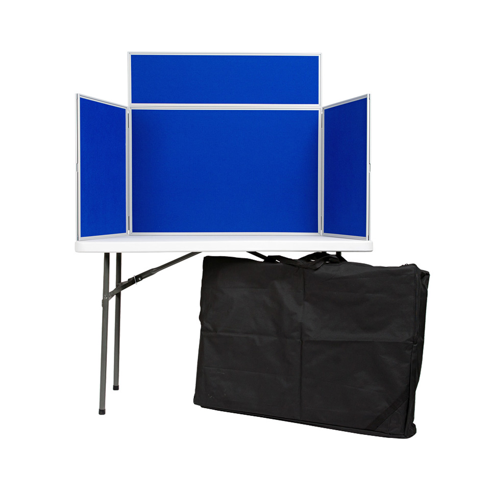 3 Panel Landscape Table Top Display Boards with Carry Bag included