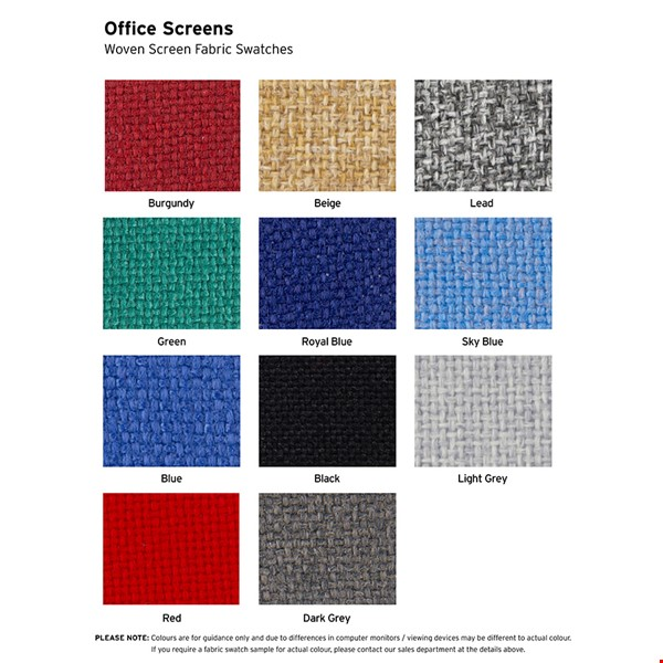 Office Screen Fabric Colours