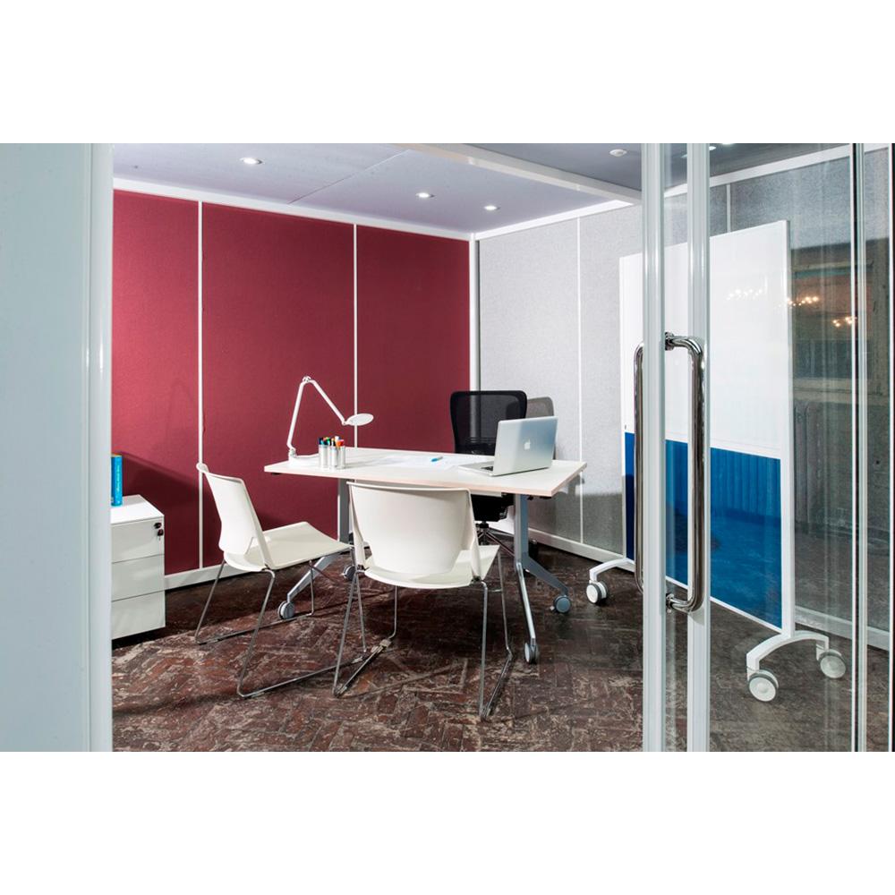Modern, Effortless Sliding Doors for Partially Glazed Office Pod