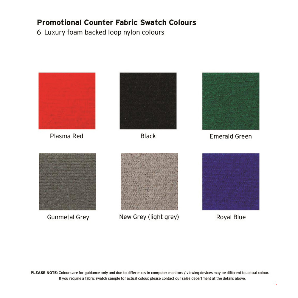6 Available Fabric Colours to Choose From