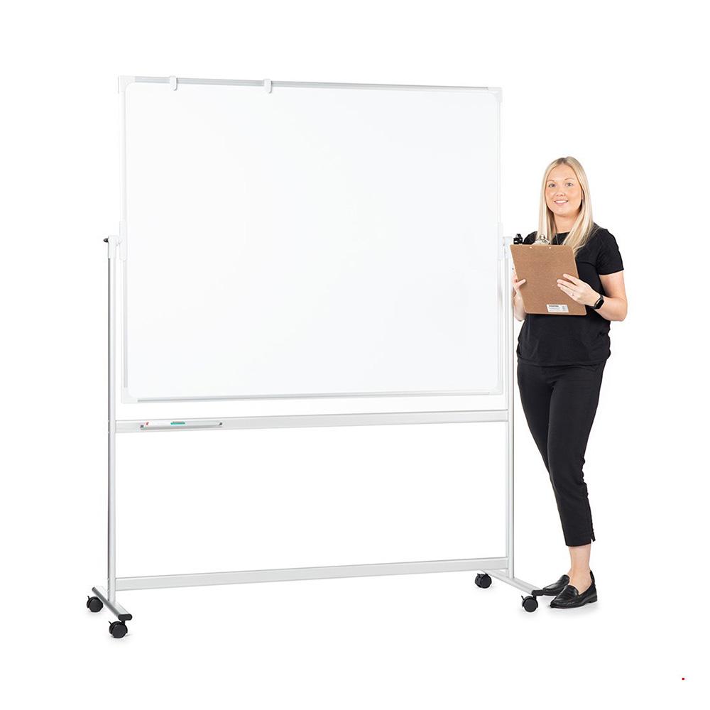 Mobile Swivel Whiteboard on Wheels
