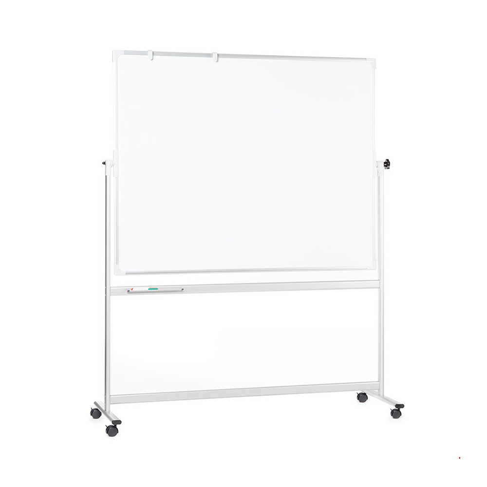 Portable Magnetic Whiteboard on Wheels