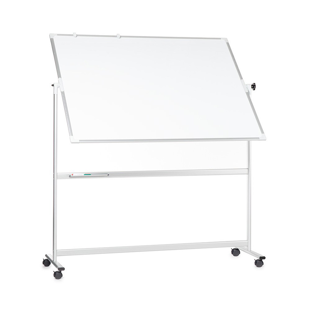 Mobile Magnetic Whiteboard with 360 Degree Swivel