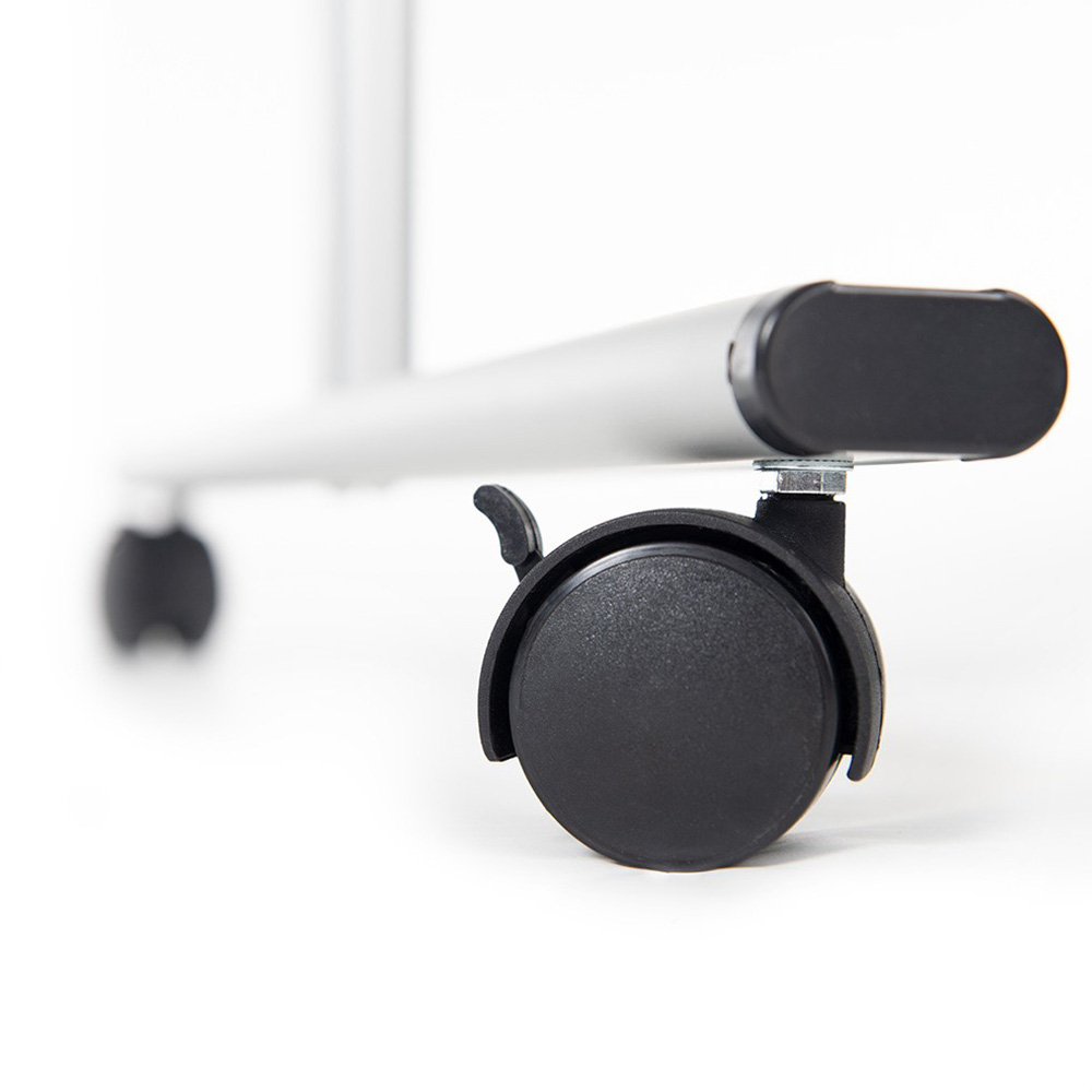Close Up Of Lockable Castor Wheel for Mobile Magnetic Whiteboard