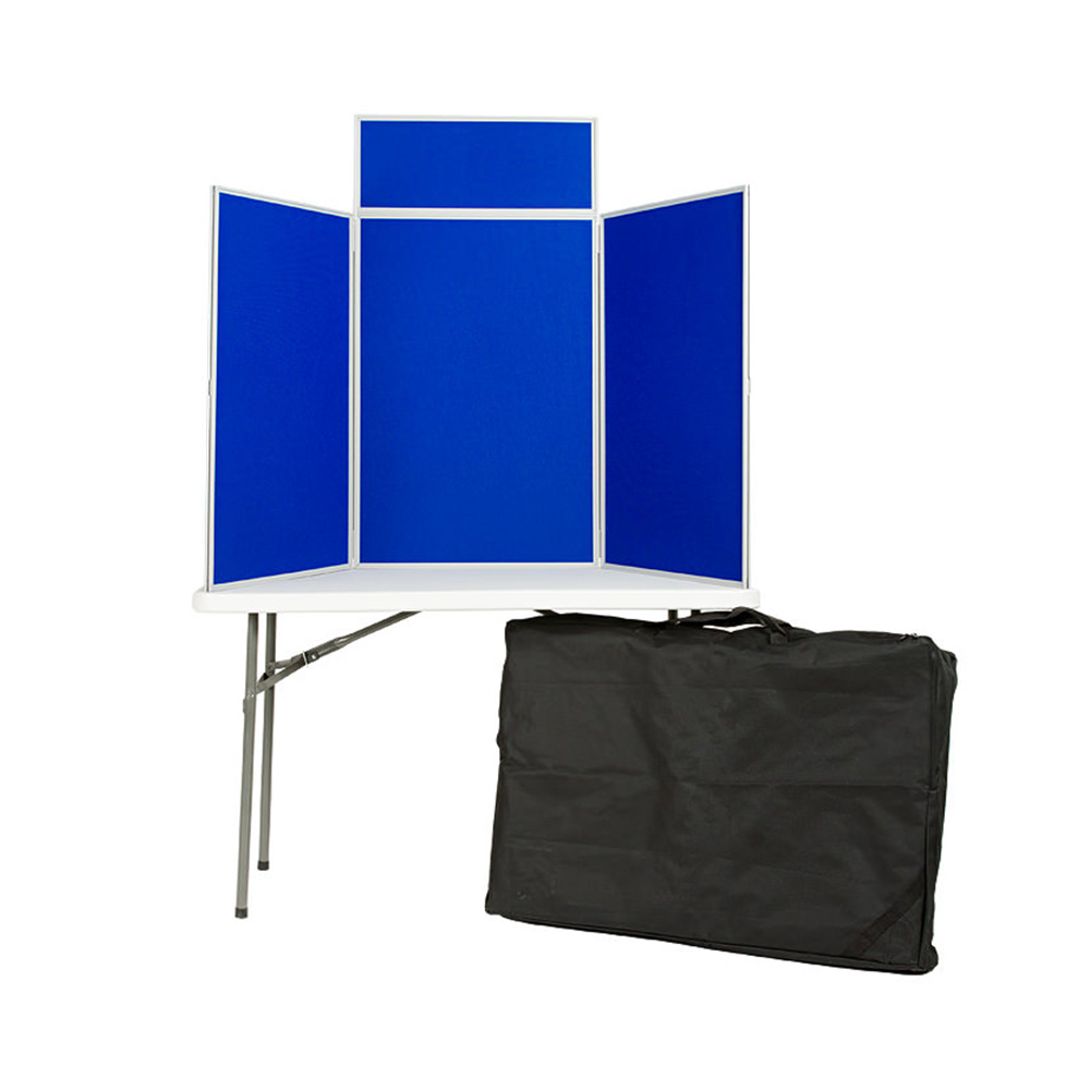 3 Panel Folding Display Boards in Portrait Orientation and Carry Case