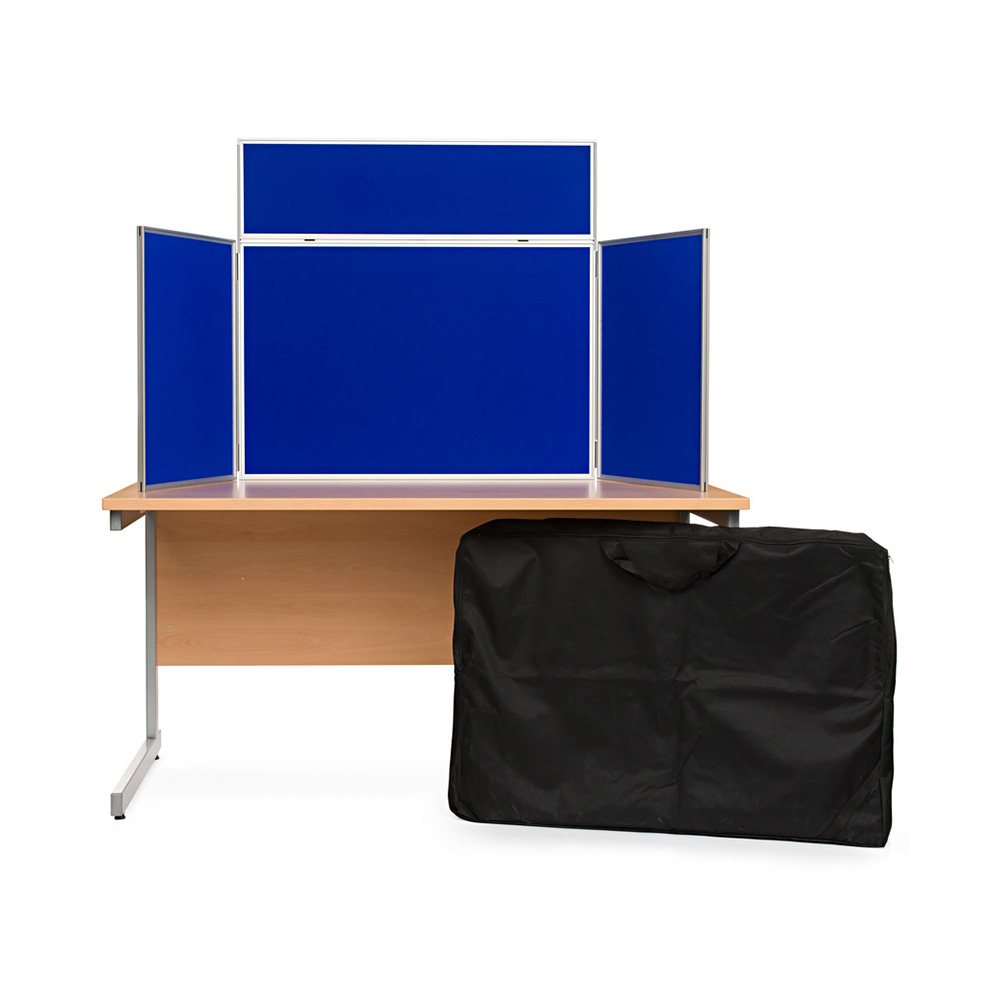 Display Board Presentation Kit in Blue with Carry Bag