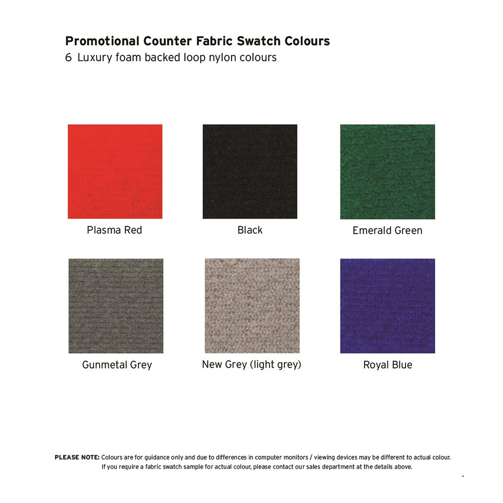 Display Board Fabric Has 6 Colour Options