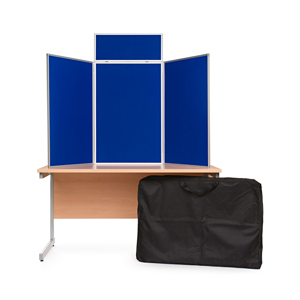 Table Top Presentation Kit in Blue with Carry Bag Included