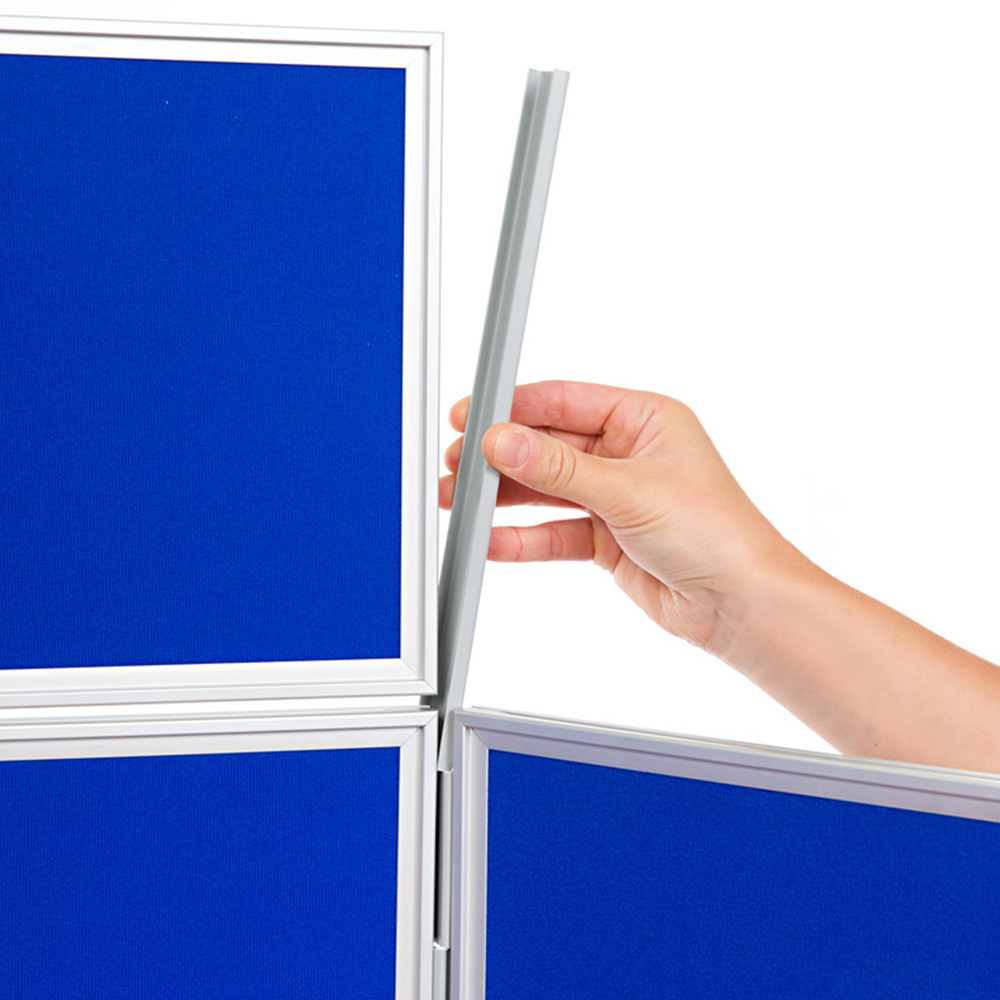 Use Finishing Strips to Clip Display Board Header into Place